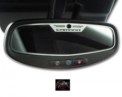 "American Car Craft, Trim Plate, Rear View Mirror, ""Camaro"" Style Brushed Stainless Steel, With Sensor
