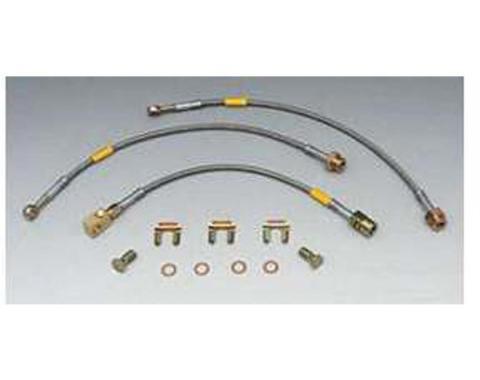 Firebird Braided Disc Brake Hose Kit, Stainless Steel, WithRear Disc Brakes, Goodridge, 1989-1992