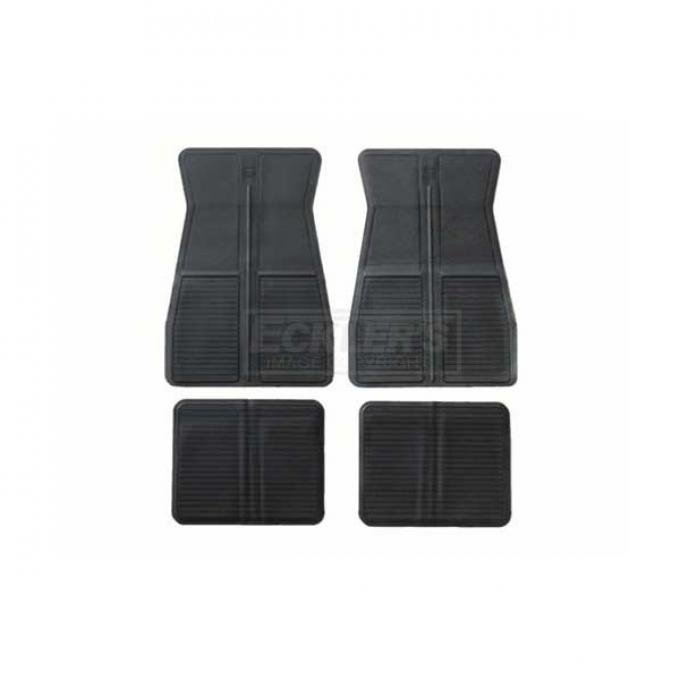 Original Style Rubber Floor Mats With GM Logo 1973-1981