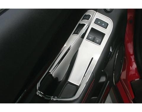 American Car Craft, License Trim Plate, Door Handle Pull / Switch, Brushed Stainless Steel| 33-10283 Camaro 2010-2013