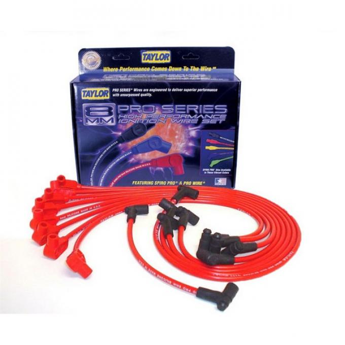 Camaro Taylor Plug Wires, Spiro-Pro Custom, Red, Small Block, 1975-1979