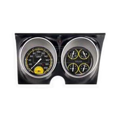 Camaro Classic Instruments Autocross Yellow Series Speedtachular Analog Gauge Kit, 1967-1968