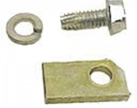 Firebird Speedometer Cable Retainer, Bolt & Lock Washer, For All Transmissions Except Turbo Hydra-Matic 400 (TH400), 1967-1969