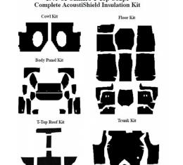 Camaro Insulation, QuietRide, AcoustiShield, Complete Kit, Coupe, T-Top, 1975-1981