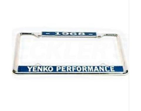 Yenko Performace License Frame, 1968
