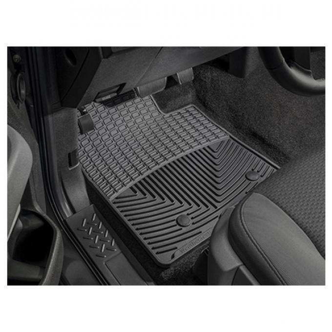 Camaro Front Rubber Floor Mats, WeatherTech®, 1967-2002