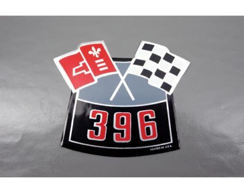 Camaro Air Cleaner Decal, 396 Crossed Flags, 1967-1969
