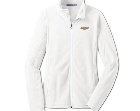 Chevy Jacket, Ladies, Full Zip Lightweight Microfleece , White
