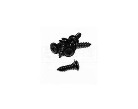 Firebird Door Jam Sill Plate Screws Set, Black, 1982-1992