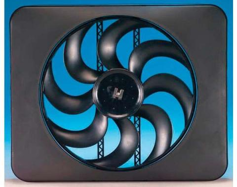 Camaro Engine Cooling Fan Kit, Electric, Universal, Single, 3300 CFM, Black Magic X-Treme, Flex-a-lite, 1967-2014