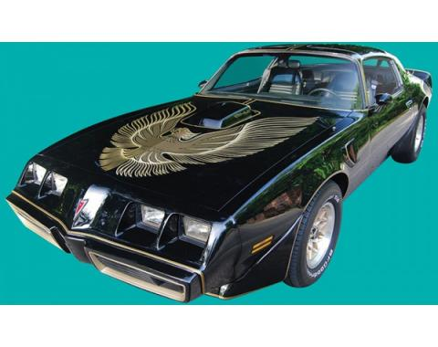Firebird Decal Set, Gold, Two Color, Trans Am, Special Edition, Ultimate Kit, 1981
