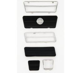Camaro Pedal Pad Kit, Gas, Brake & Parking Brake, For Cars With Disc Brakes, 1972-1981