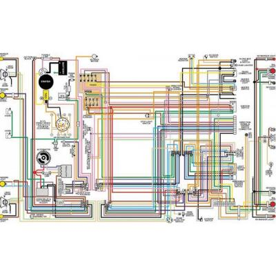 Camaro Color Laminated Wiring Diagram, 1967-1981