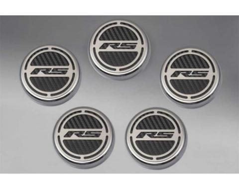 American Car Craft, Engine Cap Cover Set, V6, Carbon Fiber Look| 376760 Camaro 2010-2015