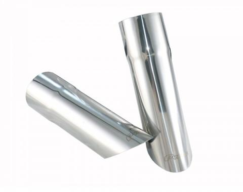 "Pypes 2.5"" Exhaust Tips, 9"" Angle Cut, 1967-1981"