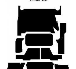 Camaro Insulation, QuietRide, AcoustiShield, Trunk Floor Kit, Coupe, T-Top, 1993-2002