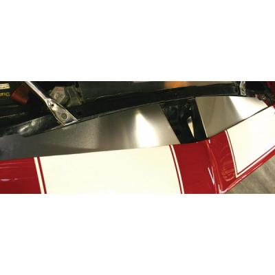 Camaro Core Support Filler Panel, 2 Piece, Polished Aluminum, 1967-1969