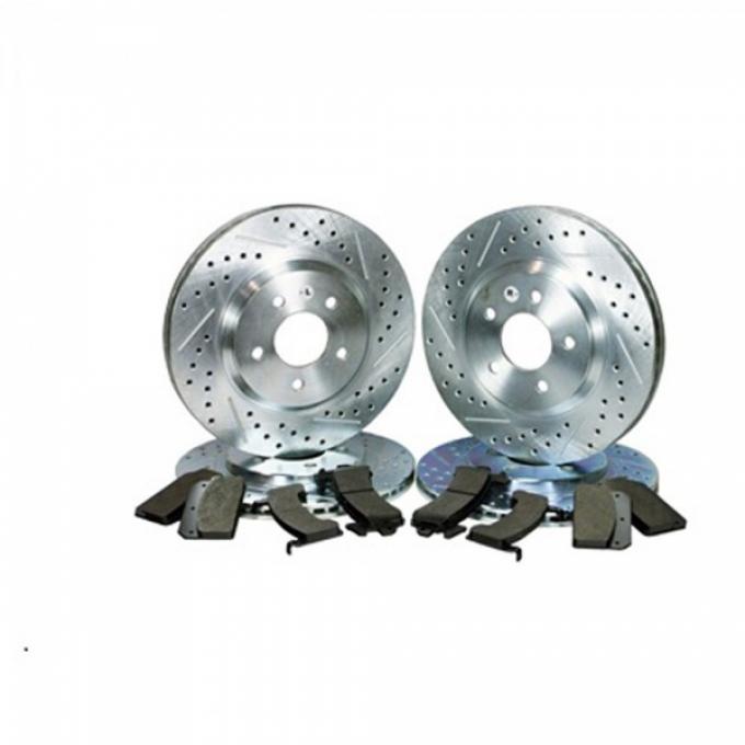 Front & Rear Rotor Kit, Street Pack, V8, 93