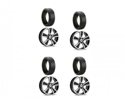 Camaro Firestone Wide Oval Indy 500 Tires and Hurst Shaker Wheel Rims Kit, 2010-2015