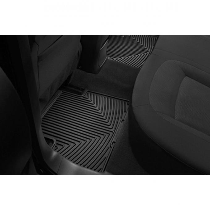 Camaro Rear Rubber Floor Mats, WeatherTech®, 1967-2002