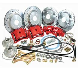 Camaro Complete Front And Rear Big Brake Kit, For Stock Spindles, Plain Calipers, 1967