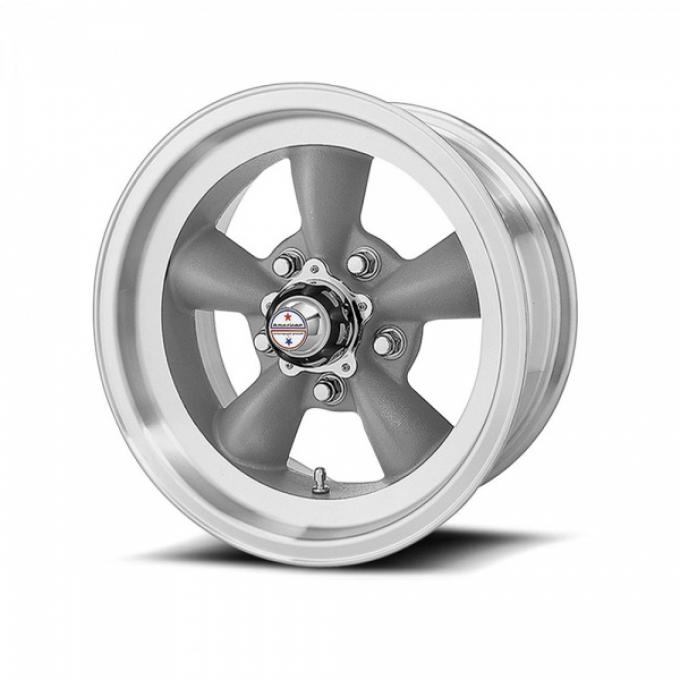 American Racing Torq-Thrust D Gray Wheel W/ Machine Lip, 15X4.5
