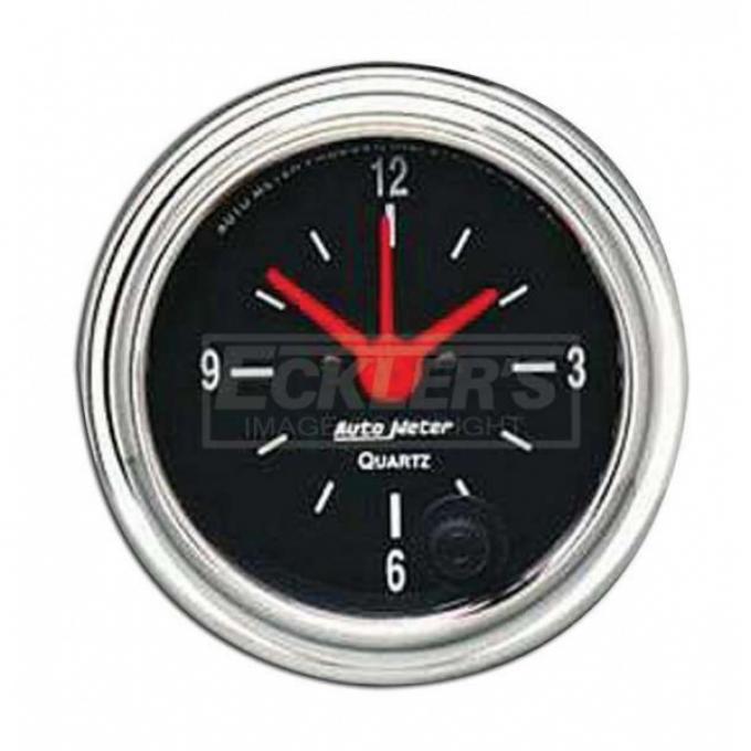 Firebird Clock, Chrome AutoMeter