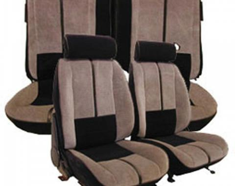 Camaro Front & Rear Seat Cover Set, Velour, For Cars With Deluxe Interior & Rear Split Seat, 1988-1992