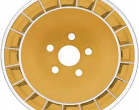 """Firebird Wheel, Gold, 15"""" x 8"""", 1980-1981"""