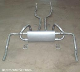 Exhaust System, Small Block Except Z28, Original Style, With Polished Tips, 1970-1973