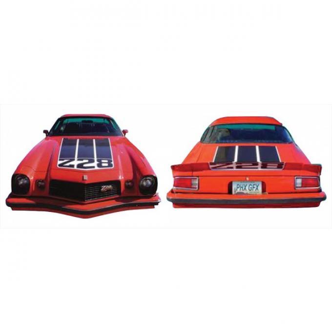 Camaro Hood/Trunk/Spoiler Decal Kit, Z28, 1974
