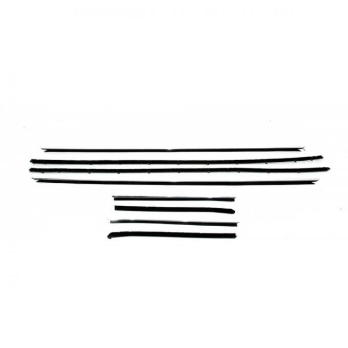 Camaro Convertible Window Felt Kit With Flat Inner & Round Outer Stainless Steel Beads For Cars With Deluxe Interior & Rally Sport(RS) Or With Optional Exterior Trim,