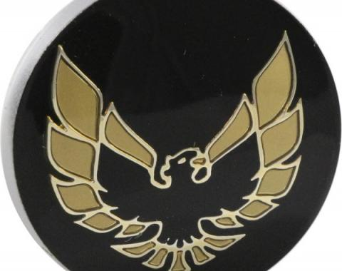 Firebird Center Cap Emblem, Gold, Aluminum Wheel, 1978-1981