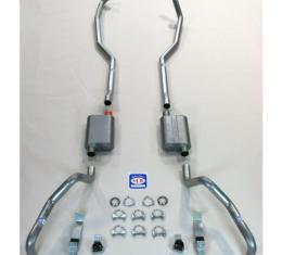 """Camaro SCR Performance Dual Exhaust System, For Big Block With Manifolds, 2-1/2"""", 1967-1969"""