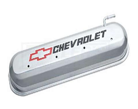 Firebird LS V8, Valve Cover, Polised With Recessed Red And Black Emblems, 1967-2002