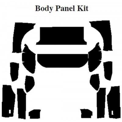Camaro Insulation, QuietRide, AcoustiShield, Body Panel Kit, Coupe, 1970-1974