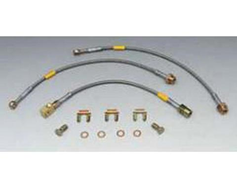 Firebird Braided Disc Brake Hose Kit, Stainless Steel, With Rear Disc Brakes, With Traction Control, Goodridge, 1994-1997