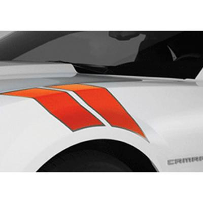 Camaro Hash Marks With Accent Border, 2010-2014