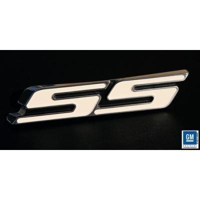 Camaro Trunk Emblem, SS, Polished, White, 2010-2013