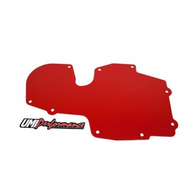 70-81 A/C Delete Panel Aluminum-Powder Coat Red