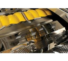 """American Car Craft, Fuel Rail Covers, LED Illuminated, Polished Stainless Steel, """"SS Style"""", Perforated