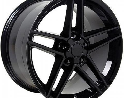 Firebird 18 X 9.5 C6 Z06 Reproduction Wheel, Black, 1993-2002