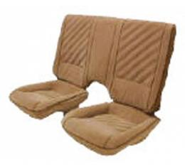 Camaro Front & Rear Seat Cover Set, For Cars With Deluxe Interior & Solid Rear Back, 1985-1987