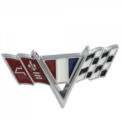 Camaro Front Fender Crossed-Flags Emblem, Good Quality, 1967