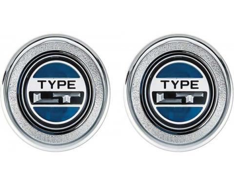Camaro Interior Door Panel Emblems, Type LT, 1974-1978