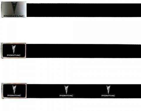Firebird Web Belts, Up to 46'' Waist With Bottle Opener, Pontiac Logo