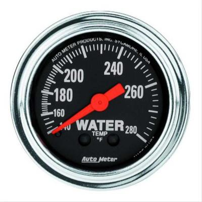 Camaro Autometer Water Temperature Gauge, Traditional Chrome, Mechanical