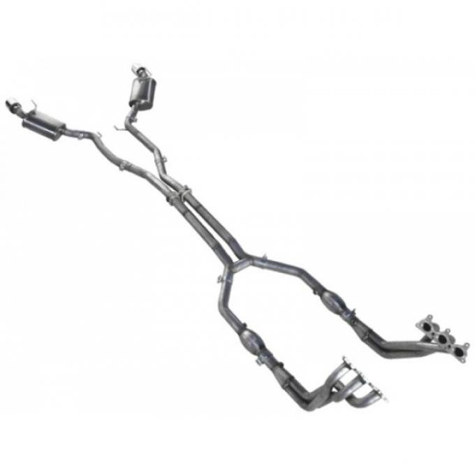 Camaro 1-3/4'' x 2-1/2'' Headers With H-Pipe & Cats, Off Road Use Only, V6, 2010-2011