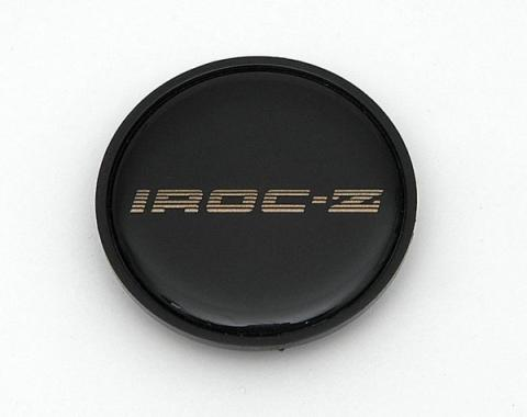 Camaro Wheel Cap Emblem, IROC-Z, With Gold Letters, 1985-1987