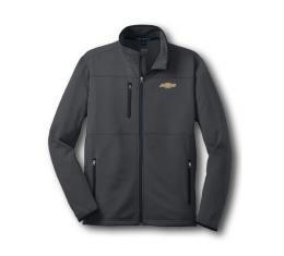 Chevy Jacket, Zippered Pique Fleece, Charcoal